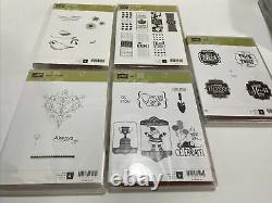15 Sets Huge Lot Of Stampin Up Stamp Sets Some Rare Retired Excellent Condition