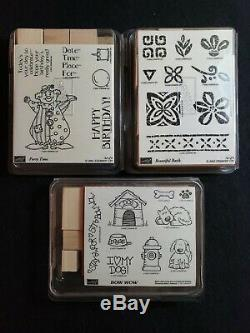 1993-2002 Stampin' Up 24 Sets (125 pieces) Retired Unmounted Limited Edition Lot