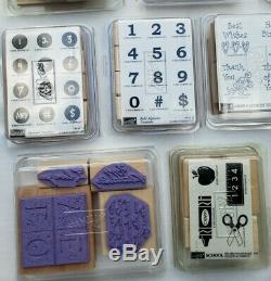 1993-2006 Stampin' Up 23 Sets (139 pcs) + Ink Retired Unmounted Limited Edition