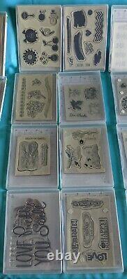 28 Stampin' Up! Rubber Stamp Sets Most Unused or Lightly Used Retired & HTF