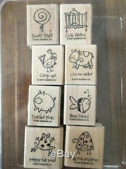 29 Stampin up stamp sets, wood mount, cling and photopolymer