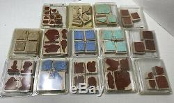32 Plus Stamp SETS Lot STAMPIN' UP! Most NEW 2000's Some Retired Loose Stamps