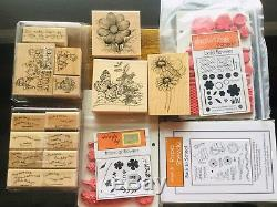 50+ Lot Clear Rubber Stamp Sets Penny Black Crafts Meow GinaK, Stampin Up
