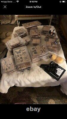 52 Stampin Up Rubber Stamp Sets. Most Sets Are Retired
