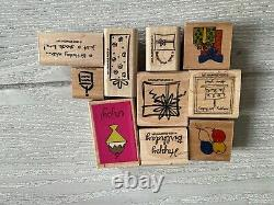 52pc stampin up stamp sets, floral set, good condition, great for crafts