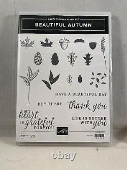 BEAUTIFUL AUTUMN Stamp Set & Every Season Punch Pack Stampin Up Leaf Acorn