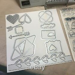 BRAND NEW Stampin' Up SEALED WITH LOVE stamp set & LOVE NOTES FRAMELITS