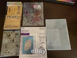 Barely Used Huge Lot Of Stampin Up Ink, Markers, Blocks And Stamps Set