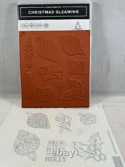 CHRISTMAS GLEAMING Stamp Set & GLEAMING ORNAMENTS Punch Pack Stampin Up