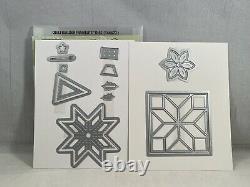 CHRISTMAS QUILT Stamp Set & QUILT BUILDER Framelits & QUILTED CHRISTMAS Paper