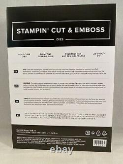 CLUBHOUSE Stamp Set & GOLF CLUB Dies By Stampin Up New Birthday Fathers Day