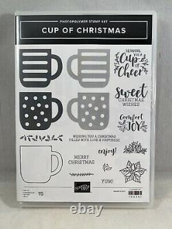 CUP OF CHRISTMAS Stamp Set & CUP OF CHEER Dies By Stampin Up New Reversibles