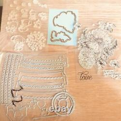 Clear Stamps Set and Craft Dies Mega Bundle 50+ Sets -Stampin Up, Sizzix, Others