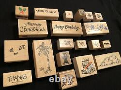 Craft Stamping Set (Lot Of 46 Stamps), Cards/Envelopes, Paper Edgers, Pads