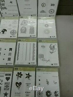 (DD) (A32) Retired Stampin Up 34 Stamp Sets in Cases