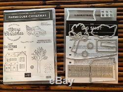 Farmhouse Christmas Stamp Set & Farmhouse Framelits Retired Stampin' UP