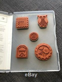 Foxy Friends Cozy Critters Stampin Up Lot Sets + Fox & Owl Punch Retired Rare