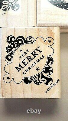 Friend, Merry Christmas Bundle Joy Occasions Rubber Stamps Set Stampin Up Title