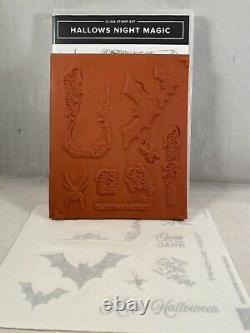 HALLOWS NIGHT MAGIC Stamp Set & HALLOWEEN MAGIC Dies Stampin Up New Bats Spider