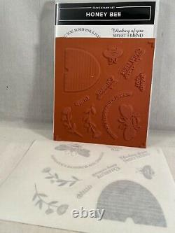 HONEY BEE Stamp Set & DETAILED BEES Dies By Stampin Up New Bee Hive