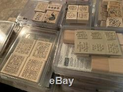 HUGE 100+ SETS Lot STAMPIN' UP! Many Retired Most NEW 1990's 2000's MUST SEE