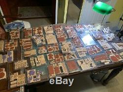 HUGE 300+ Lot Stampin' Up Stamps Sets Scrapbooking Brand New to Barely Used! WOW