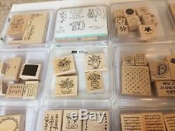 HUGE 33 SETS Lot Stampin' Up Rubber Stamp Set Scrap Booking 242 Total Stamps NEW
