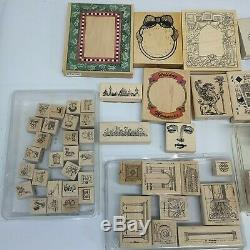 HUGE 34 SETS Lot Stampin' Up Rubber Stamp Set Scrap Booking Cards Art Crafts