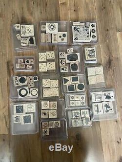 HUGE 90 set lot. Stampin' Up wood mount rubber stamps vintage, many retired sets