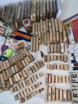 HUGE DESTASH LOT! 450+ Stamps & Sets, Cardstock & More