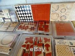HUGE LOT 233 Stampin Up Rubber Stamps, Lots of Sets, Wood Mounted, Used/New