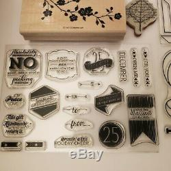 HUGE LOT 81+ Stampin Up Used Stamp Sets RETIRED Scrapbook School Class Home