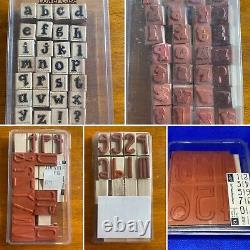 HUGE LOT Stampin' Up Stamp Sets Tools Inks New & Used