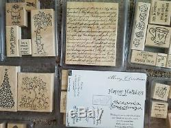 HUGE LOT of 43 SETS Stampin up! Wood Mounted Stamps 370+ stamps