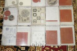 HUGE LOT of Stampin Up Sets Christmas Flowers Mixed Sets Make a Wish Birthday