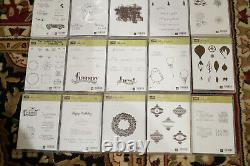 HUGE LOT of Stampin Up Sets Christmas Stamps Mixed Sets Happy Birthday Flower +