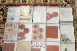 HUGE LOT of Stampin Up Sets Christmas sets Santa Halloween stamps Mixed sets