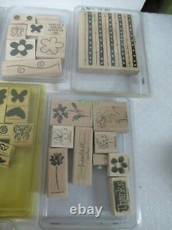 HUGE Lot 199 Wood Mount Rubber Stamps Stampin' Up 31 SETS