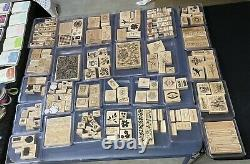 HUGE Lot Of STAMPIN UP 118 Stamp Sets 863 Stamps 33 Inks 26 Pads +pens Paper