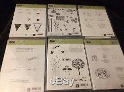 HUGE Stampin' Up! Lot 18 Clear-Mount Rubber stamp sets Retired! 10 Used 8 New