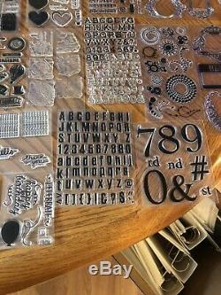 HUGE Stampin' Up Lot Polymer Mostly Newithunused! FREE SHIPPING! Over 25 Sets