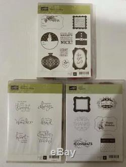 HUGE Stampin Up Stamp Set Bundle Lot of 23