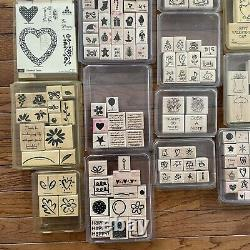 HUGE Stampin Up! Total of 302 Stamps (Lot of 33 Stamp Sets) New & Used
