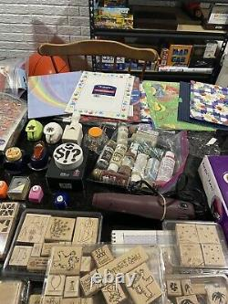 Huge Crafting Lot 21 Stampin Up Sets 215 Total Stamps + Tons of Other Scraping