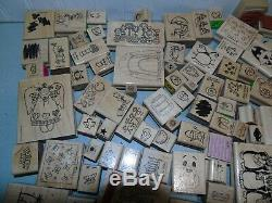 Huge Lot 195 Stampin' Up! Mounted Rubber Stamps Mostly New Sets Wide Variety +++