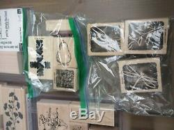 Huge Lot Of 200+ Stampin Up Wood Mounted Rubber Stamp Collection, 25 Sets