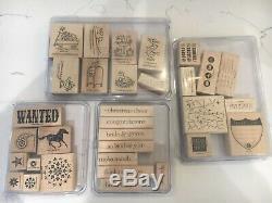 Huge Lot Of 30 retired Stampin' Up stamp sets