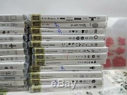 Huge Lot Of Stampin Up Sets & Other Cling Rubber Stamp Sets