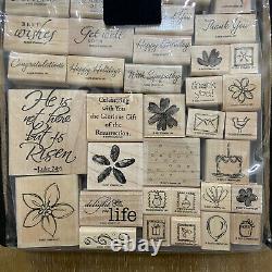 Huge Lot Of Stampin' Up! Wood Mounted Rubber Stamp Sets 75+