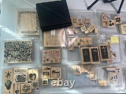 Huge Lot Of Stampin' Up! Wood Mounted Rubber Stamp Sets 75+ 2001-2006